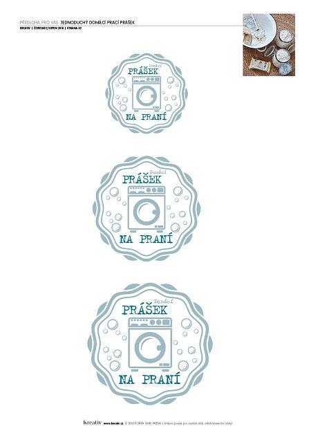 etikety na prací prášek