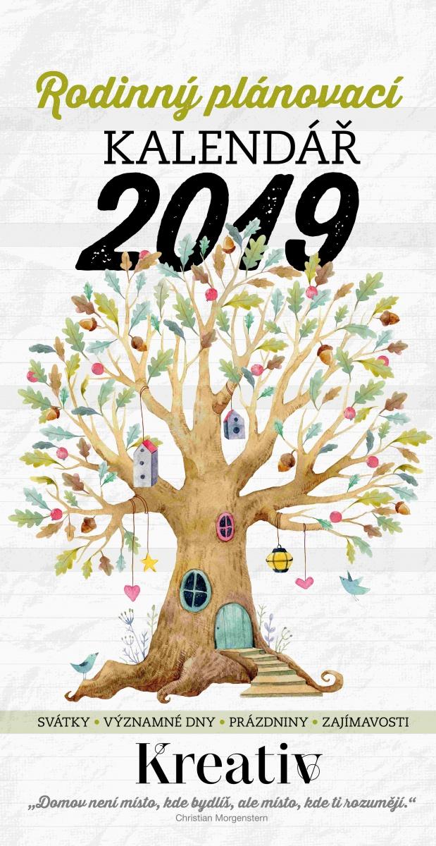 79f44f9a2 Nástěnný rodinný plánovací kalendář 2019 - Praktická žena