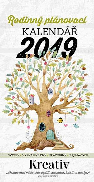 Kreativ rodinný kalendář 2019