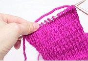 Pletení - obrace, žerzejový vzor