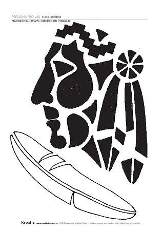 Indiánské tričko - náhled