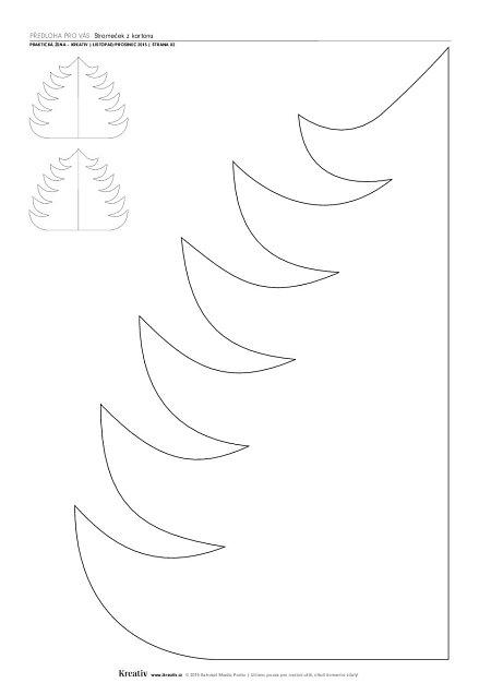 Stromeček zkartonu - náhled