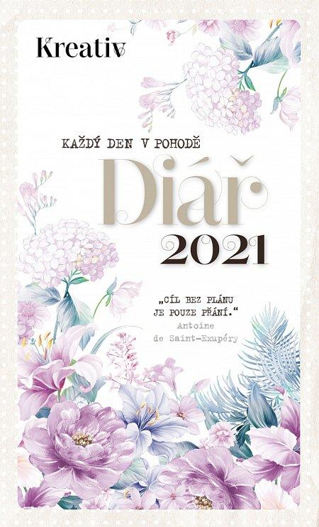 diář 2021lila