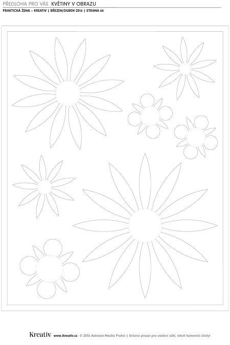 Předloha - Květiny vobraze