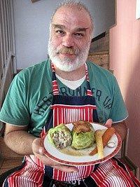 Pečené zelné závitky smletým masem - Hotovo