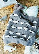 Pletená deka s ovečkami