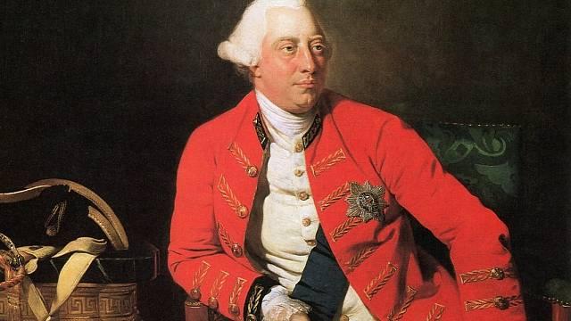 Jiří III., autor malby: Johann Zoffany, 1771