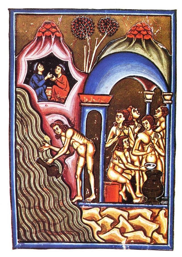 Parní lázně ve 13.století