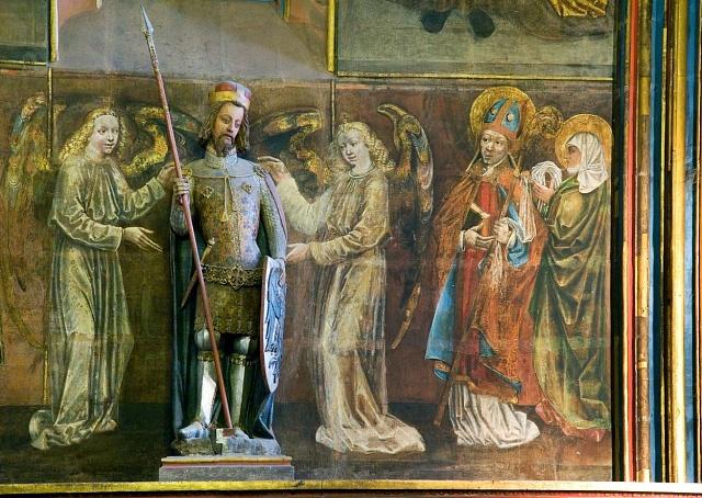 Socha svatého Václava ve stejnojmenné kapli vChrámu sv. Víta na Pražském hradě
