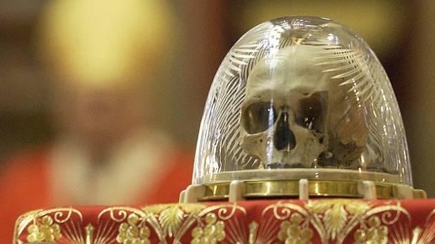 Lebka svatého Vojtěcha na Pražském hradě, pravděpodobně pravá
