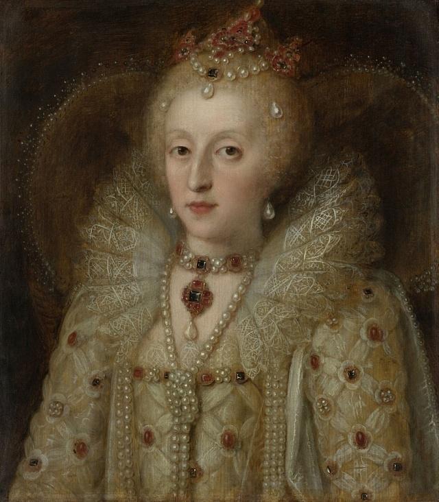 Portrét Alžběty I. od neznámého autora