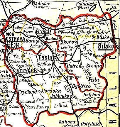 Správní rozdělení v roce 1897