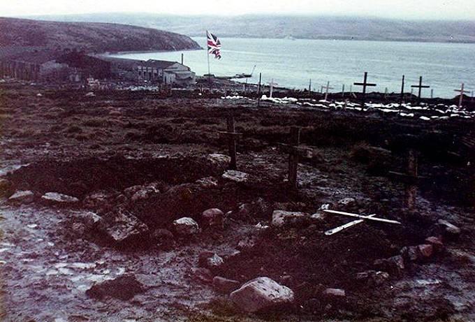 Falklandy; bitevní pole