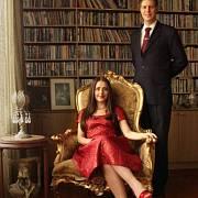 Princ Leka se snoubenkou Eliou