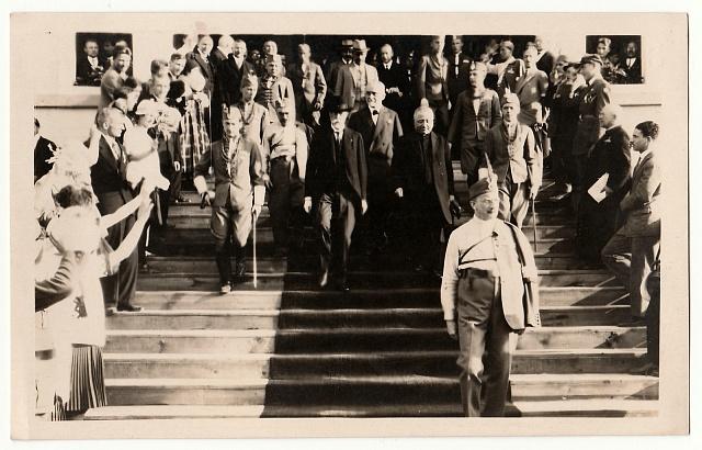 Tomáš Garrigue Masaryk se účastní Svatováclavských oslav vPraze roku 1929.