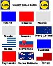 Státní vlajky podle Lidlu