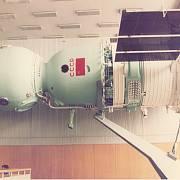 Maketa vesmírné lodi Sojuz ve výcvikovém středisku v Hvězdném městečku nedaleko Moskvy