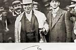 Thomas Alva Edison s Emilem Kolbenem (vpravo) při návštěvě Prahy v roce 1911