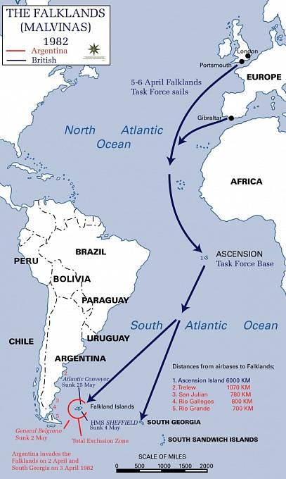 Náročná logistika Falklandské války