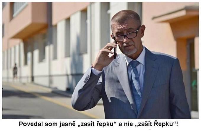 Několik vtipů spojilo Řepku s Andrejem Babišem
