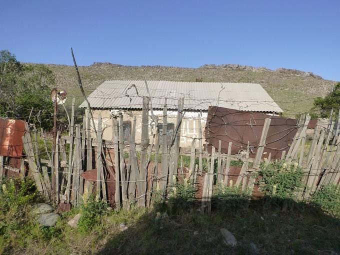 Vesnické obydlí v podhůří Altaje