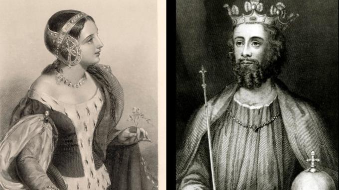 Král Eduard II. a Izabela Francouzská