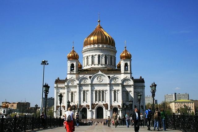Nová moskevská katedrála Krista Spasitele zlet 1994až 1999