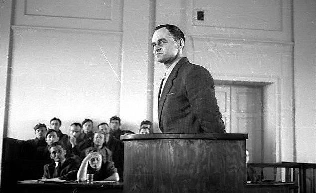 Witold Pilecki u soudu v roce 1948