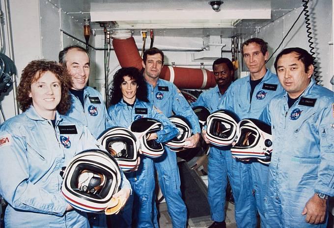 Poslední posádka raketoplánu Challenger, která zahynula při havárii