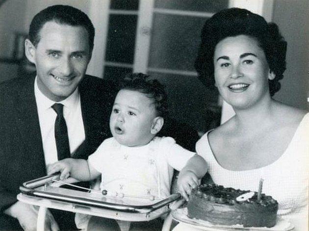 Lale Eisenberg - Sokolov s manželkou Gitou a synem Garym