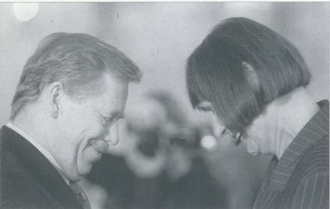 Dana Němcová a Václav Havel