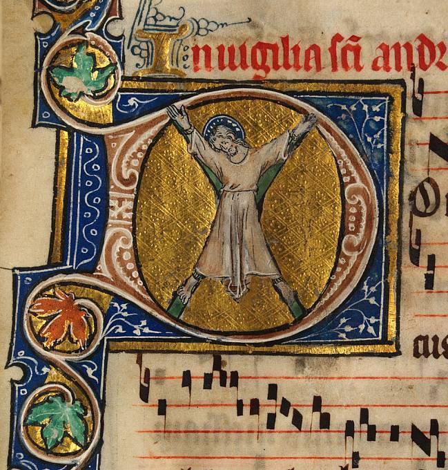 Svatý Ondřej byl ukřižován na kříži ve tvaru písmene X.