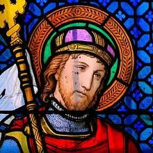 Sv. Václav - vitráž v katedrále sv. Víta na Pražském hradě