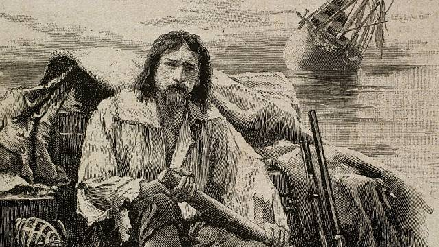 Robinsonův příběh Defoe pro účely literatury poupravil.