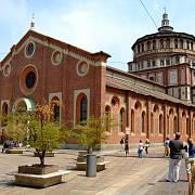 Milánský klášter, v němž je malba uložena.