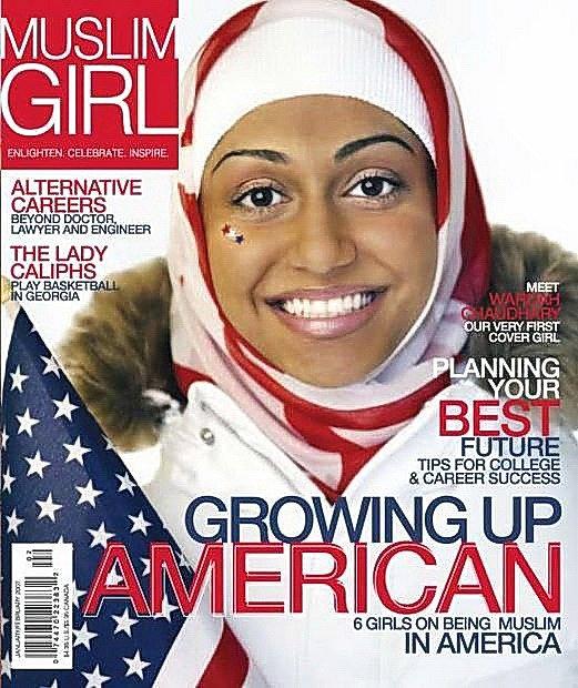 Obálka časopisu pro americké muslimky