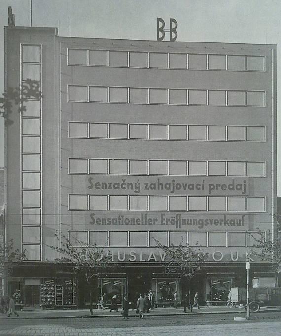 Obchodní dům B & B v Bratislavě z roku 1934