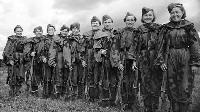 Ženy v sovětské armádě hrály významnou roli.