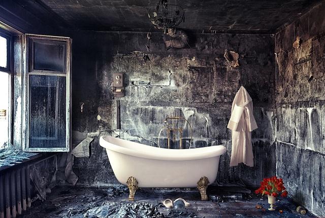 Ve viktoriánské době byla koupelna občas isoučástí domu