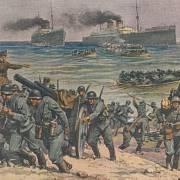 Invaze nacistů do Norska. Němci přistávají na norském pobřeží, což je první krok k úplné okupaci.