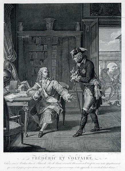 Fridrich II. Veliký a Voltaire vSanssouci