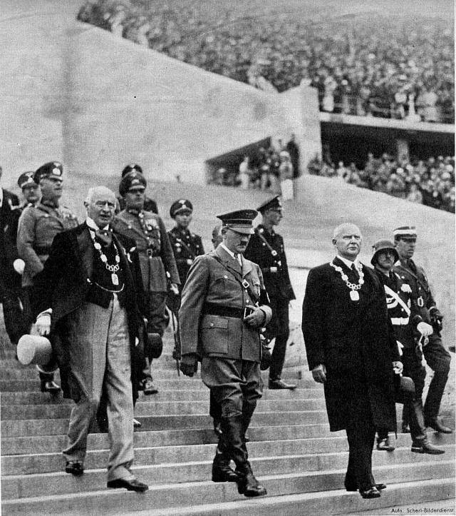 Hitler na berlínské olympiádě