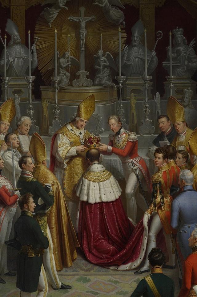 Ferdinand V. přijímá českou královskou korunu