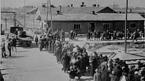 Dobový snímek z koncentračního tábora Osvětim