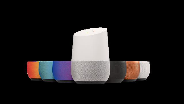Reproduktory Google Home napojené na virtuálního asistenta Google Assistant