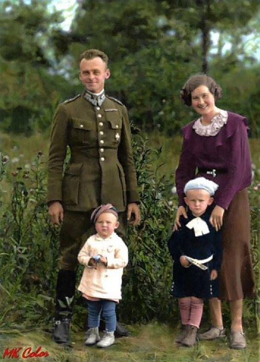 Witold Pilecki s rodinou