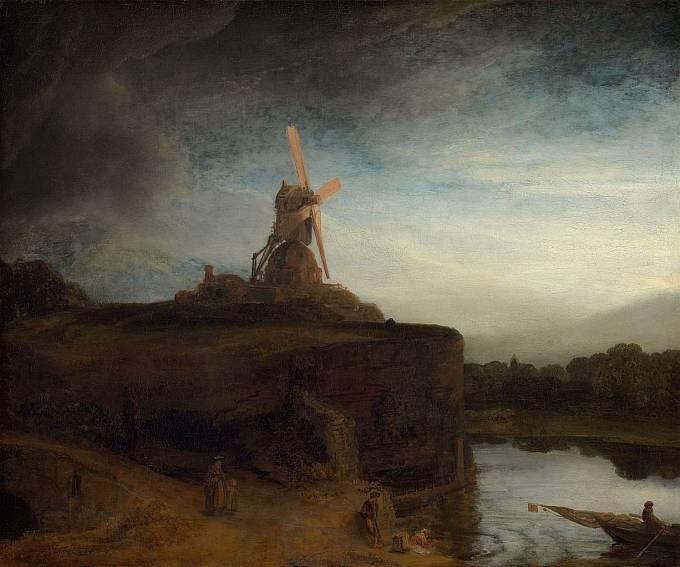 Rembrandt van Rijn: Mlýn, 1648