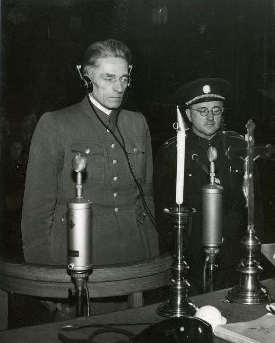 K.H. Frank uLidového soudu vPraze, 21.května 1946