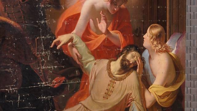 Zavraždění sv. Václava ztvárněné Antonem Petterem v polovině 19. století