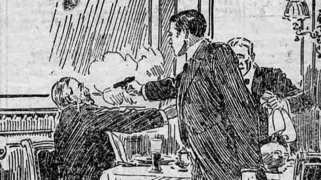 Tak před sto lety zobrazil atentát na čelného předlitavského politika ilustrátor listu Kronen-Zeitzung
